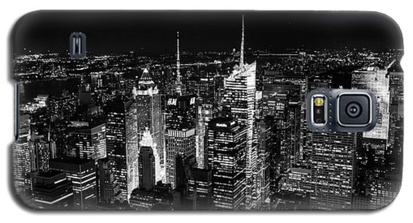 New York Times Square Bw Galaxy S5 Case by Matt Malloy