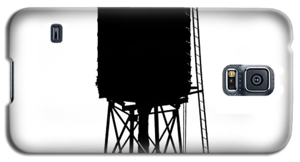 New York Water Tower 17 - Silhouette - Urban Icon Galaxy S5 Case