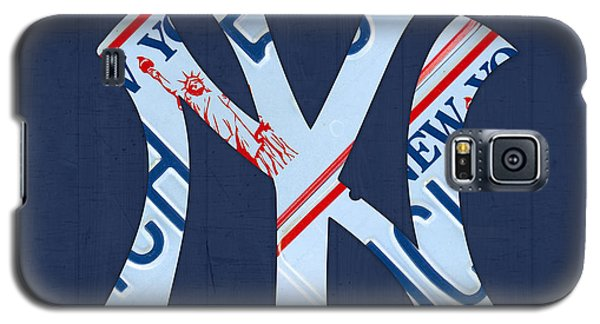 New York Yankees Galaxy S5 Case - New York Yankees Baseball Team Vintage Logo Recycled Ny License Plate Art by Design Turnpike