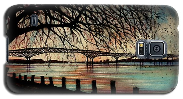 Newburgh Beacon Bridge Sunset Galaxy S5 Case
