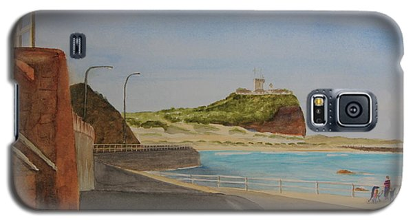Galaxy S5 Case featuring the painting Newcastle Nsw Australia by Tim Mullaney