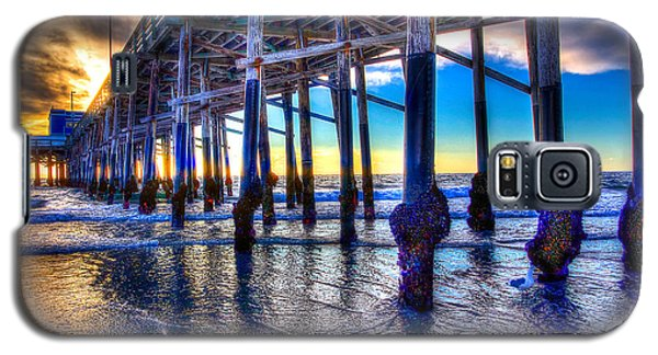 Galaxy S5 Case featuring the photograph Newport Beach Pier - Low Tide by Jim Carrell