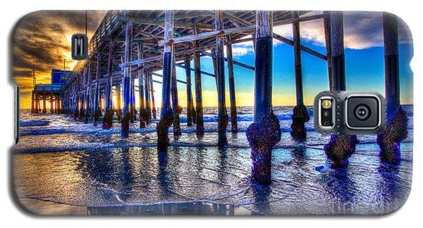 Newport Beach Pier - Low Tide Galaxy S5 Case by Jim Carrell