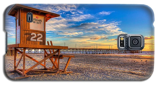 Sunset Galaxy S5 Case - Newport Beach Pier - Wintertime  by Jim Carrell