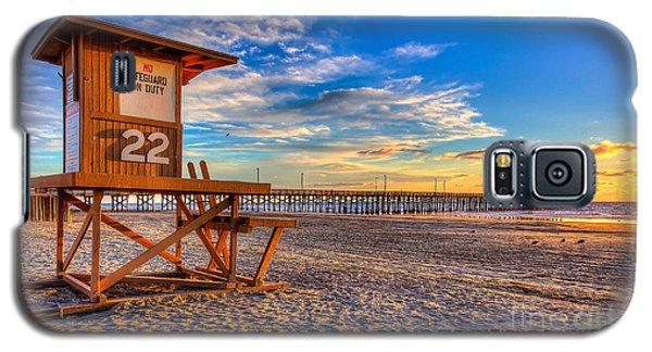 Newport Beach Pier - Wintertime  Galaxy S5 Case by Jim Carrell