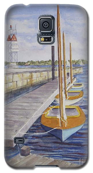 Newport Boats In Waiting Galaxy S5 Case by Carol Flagg