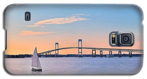 Newport Bridge Twilight Sunset With Sailboat Rhode Island Usa Galaxy S5 Case