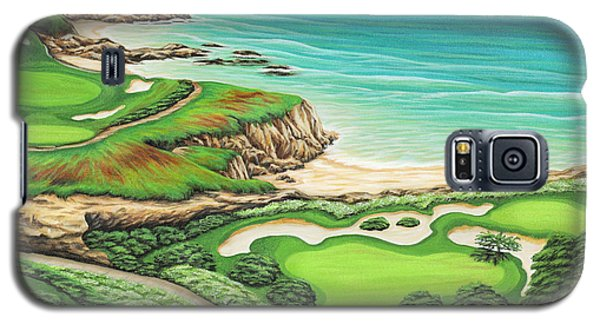Galaxy S5 Case featuring the painting Newport Coast by Jane Girardot