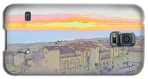 Galaxy S5 Case featuring the photograph Newport Coast Sunset by Penny Lisowski