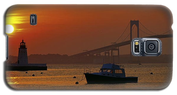 Newport Sunset Galaxy S5 Case by Lou Ford