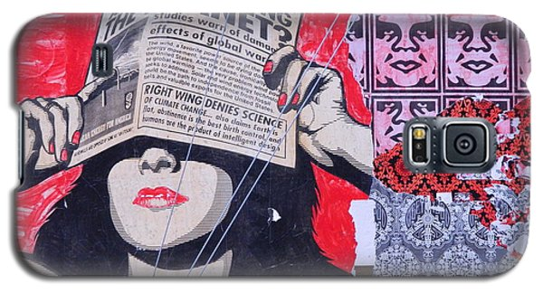 Galaxy S5 Case featuring the photograph Shepard Fairey Graffiti Andre The Giant And His Posse Wall Mural by Kathy Barney