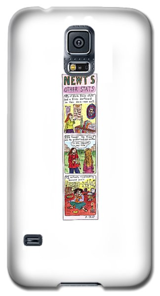 Newt's Other Stats Galaxy S5 Case by Roz Chast