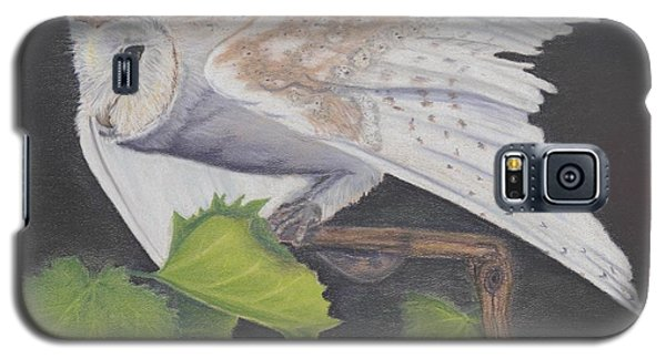 Galaxy S5 Case featuring the painting Nght Owl by Laurianna Taylor