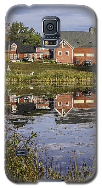 Galaxy S5 Case featuring the photograph Nh Farm Reflection by Betty Denise