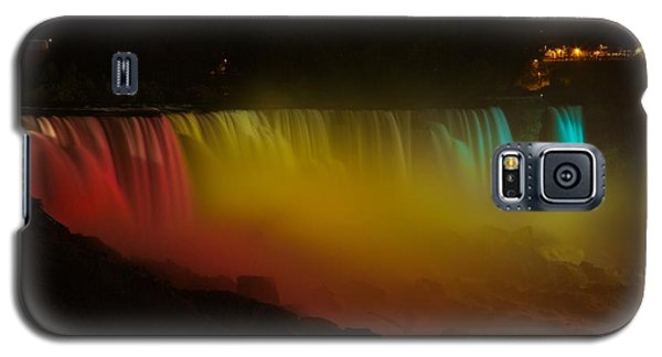 Galaxy S5 Case featuring the photograph Niagara Falls A Glow by Dave Files