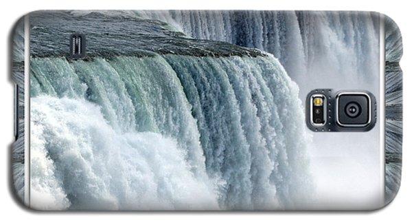 Niagara Falls American Side Closeup With Warp Frame Galaxy S5 Case
