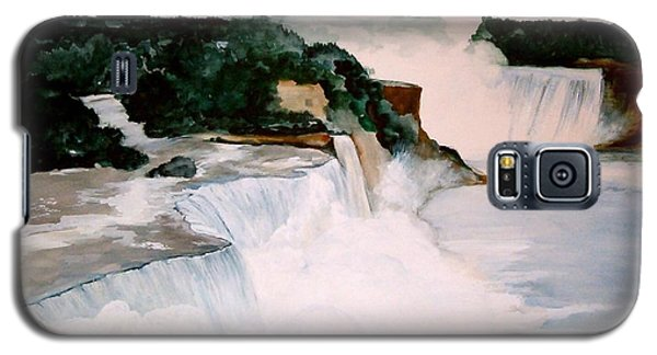 Galaxy S5 Case featuring the painting Niagara Falls by Ellen Canfield