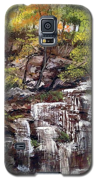 Nice Waterfall In The Forest Galaxy S5 Case by Dorothy Maier