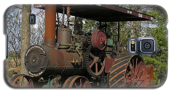 Galaxy S5 Case featuring the photograph Nichols And Shepard Old Tractor by Judy  Johnson