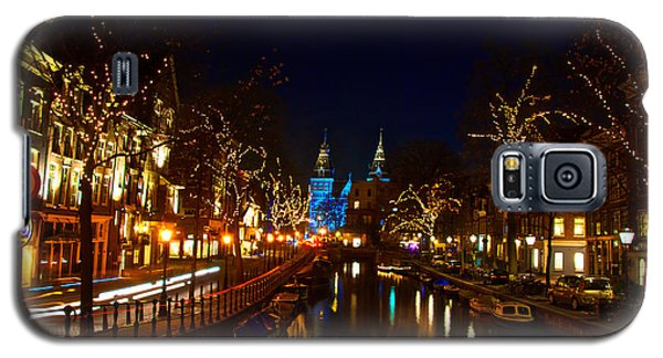 Galaxy S5 Case featuring the photograph Nieuwe Spieglestraat At Night by Jonah  Anderson