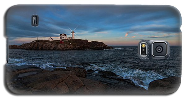 Night At Nubble Light Galaxy S5 Case