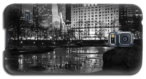 Night Central Park Lake H Galaxy S5 Case