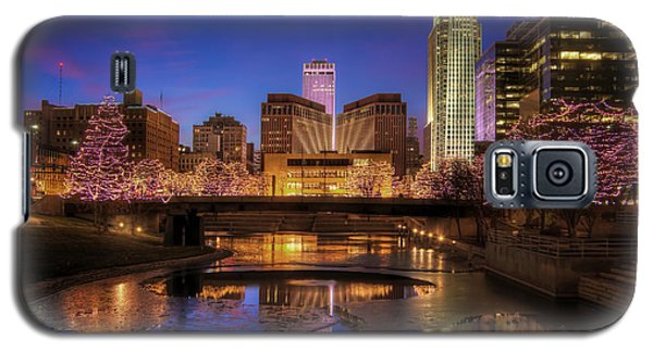 Night Cityscape - Omaha - Nebraska Galaxy S5 Case by Nikolyn McDonald