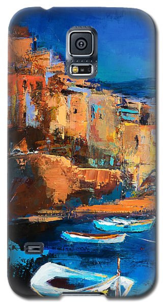 Sunset Galaxy S5 Case - Night Colors Over Riomaggiore - Cinque Terre by Elise Palmigiani