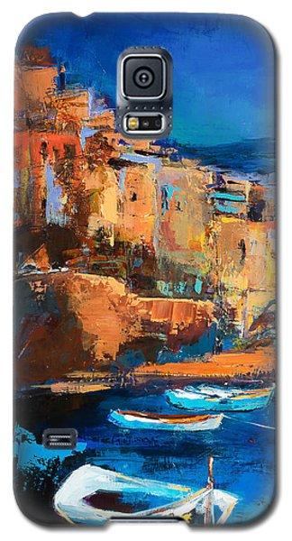 Night Colors Over Riomaggiore - Cinque Terre Galaxy S5 Case
