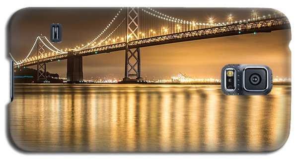 Night Descending On The Bay Bridge Galaxy S5 Case by Suzanne Luft