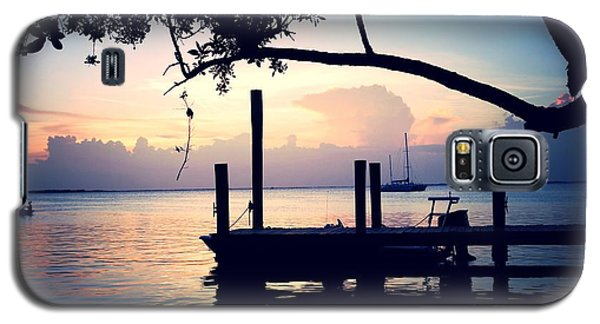 Galaxy S5 Case featuring the photograph Night Falls On The Keys by Judy Kay