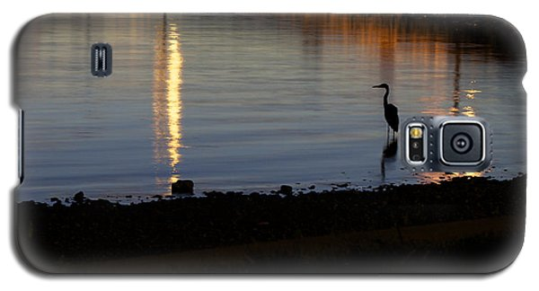 Galaxy S5 Case featuring the photograph Night Fishing - A Great Blue Heron  by Jane Eleanor Nicholas