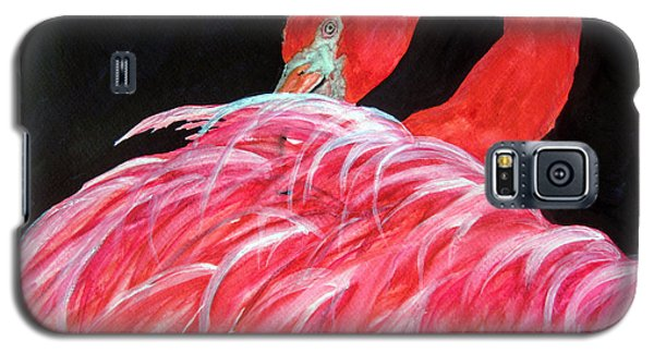 Night Flamingo Galaxy S5 Case by Lil Taylor