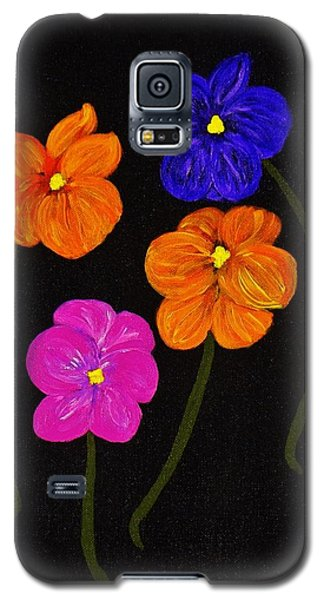 Galaxy S5 Case featuring the painting Night Glow by Celeste Manning