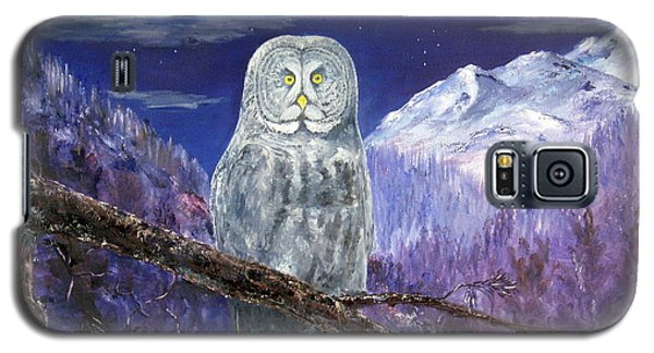 Galaxy S5 Case featuring the painting Night Hunter by Lee Piper