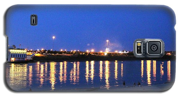 Galaxy S5 Case featuring the photograph Night Light Dancing On The River by Yumi Johnson