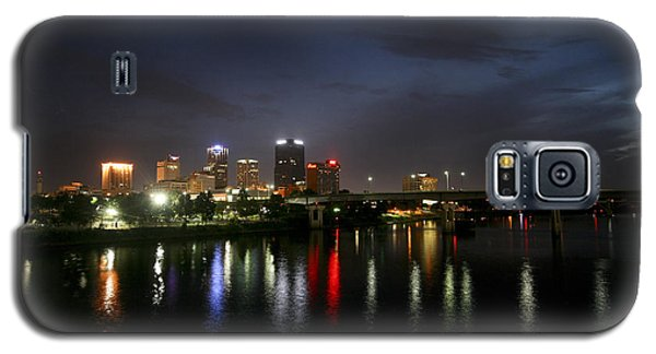 Night On The Junction Bridge Galaxy S5 Case by Robert Camp