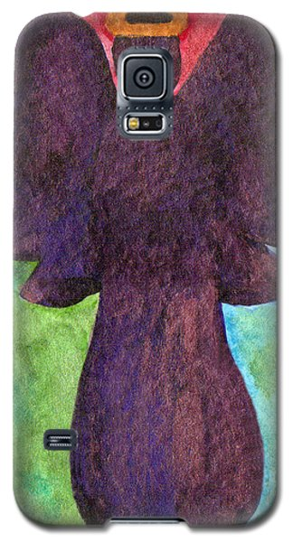 Galaxy S5 Case featuring the painting Night Shift Angel by Paula Ayers