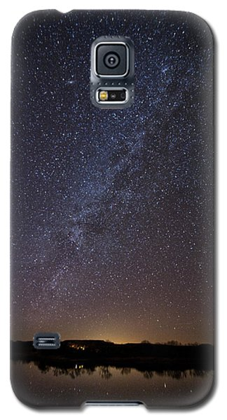 Night Sky Reflected In Lake Galaxy S5 Case
