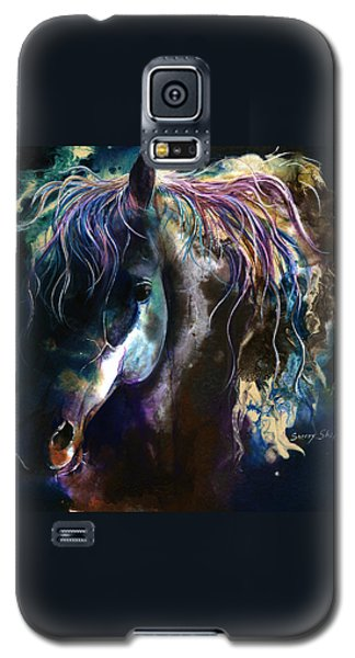 Galaxy S5 Case featuring the painting Night Stallion by Sherry Shipley