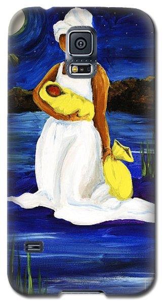 Galaxy S5 Case featuring the painting Night Tide by Diane Britton Dunham