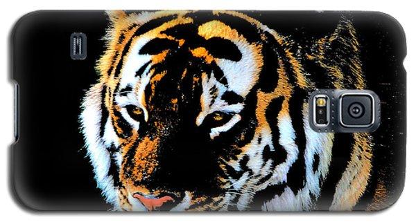 Galaxy S5 Case featuring the photograph Night Tiger by John Freidenberg