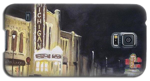 Night Time At Michigan Theater - Ann Arbor Mi Galaxy S5 Case by Yoshiko Mishina