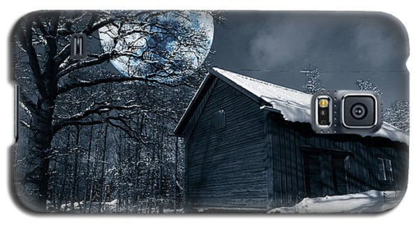 Night Time Landscape During Winter And Snow Galaxy S5 Case