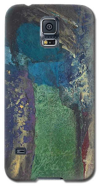 Galaxy S5 Case featuring the mixed media Night Trees by Catherine Redmayne