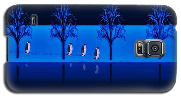 Night Walk Of The Penguins Galaxy S5 Case