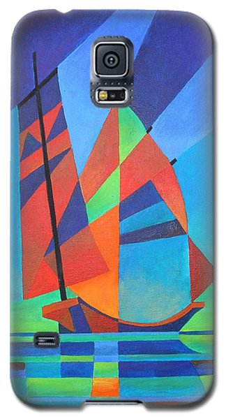 Galaxy S5 Case featuring the painting Nightboat by Tracey Harrington-Simpson