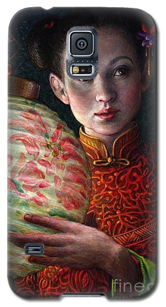 Galaxy S5 Case featuring the painting Nightingale Girl by Jane Bucci