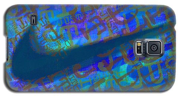 Nike Just Did It Blue Galaxy S5 Case