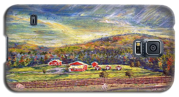 Nikki And Her Babies' Farm Sanctuary Portrait Galaxy S5 Case by Denny Morreale